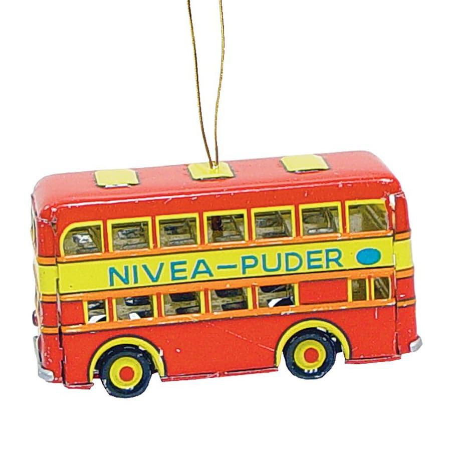 Alexander Taron Double Decker Bus Multicolor Ornament