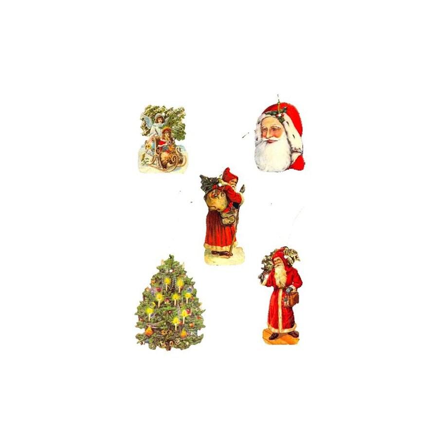 Alexander Taron 5-Pack Santa/Tree Kids Gift Tag Ornaments