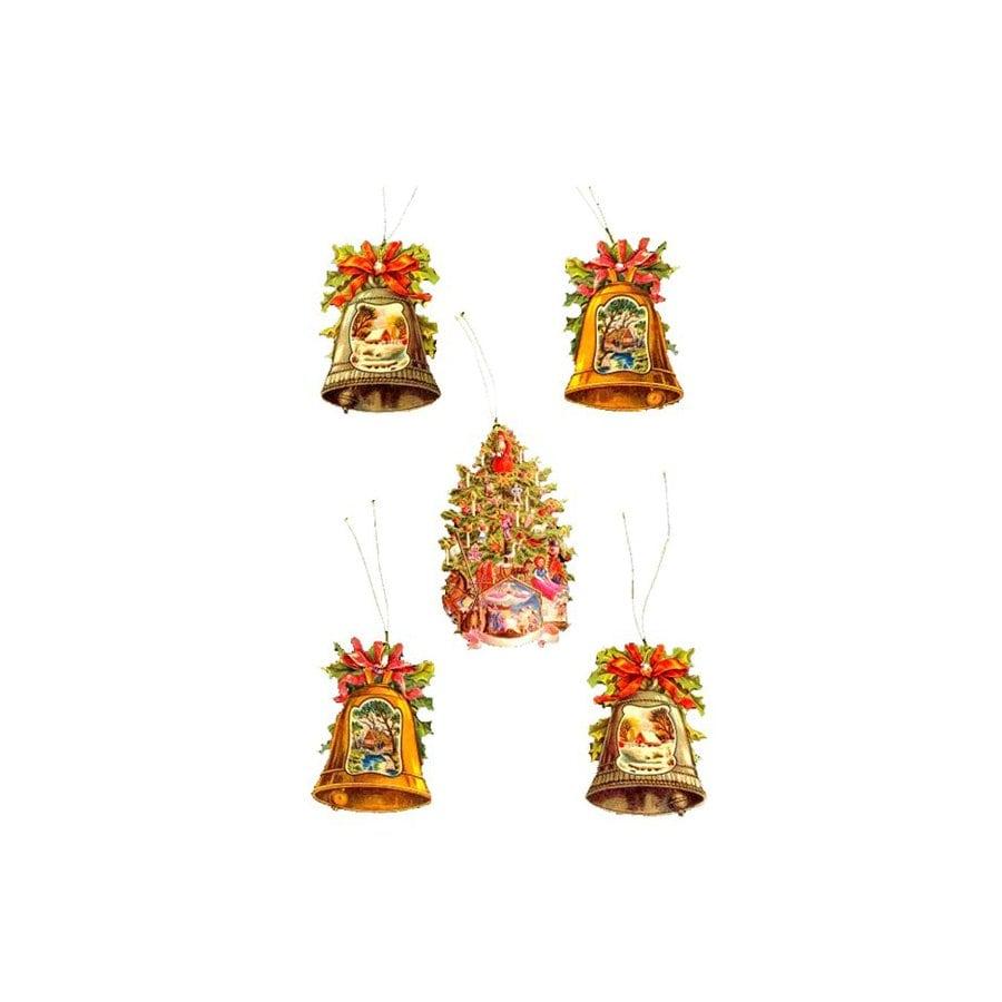 Alexander Taron 5-Pack Bells/Tree Gift Tags Ornaments