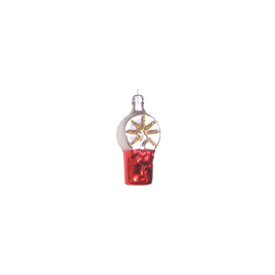 Alexander Taron Glass Candle Ornament