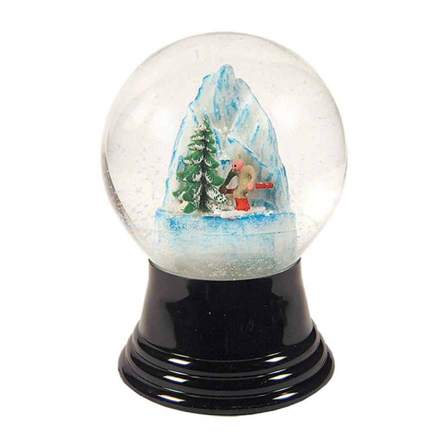 Alexander Taron Skier Glass Tabletop Snow Globe