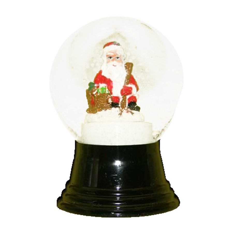 Alexander Taron Sitting Santa Glass Tabletop Snow Globe