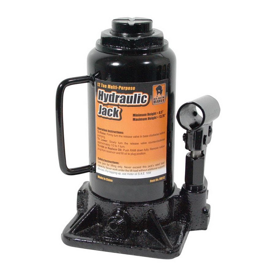 Buffalo Tools Black Bull 12-Ton Hydraulic Bottle Jack