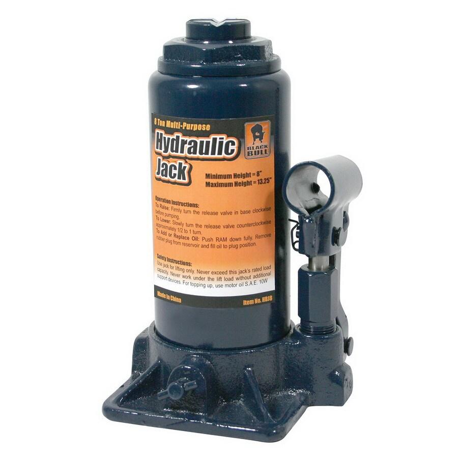 Buffalo Tools Black Bull 8-Ton Hydraulic Bottle Jack