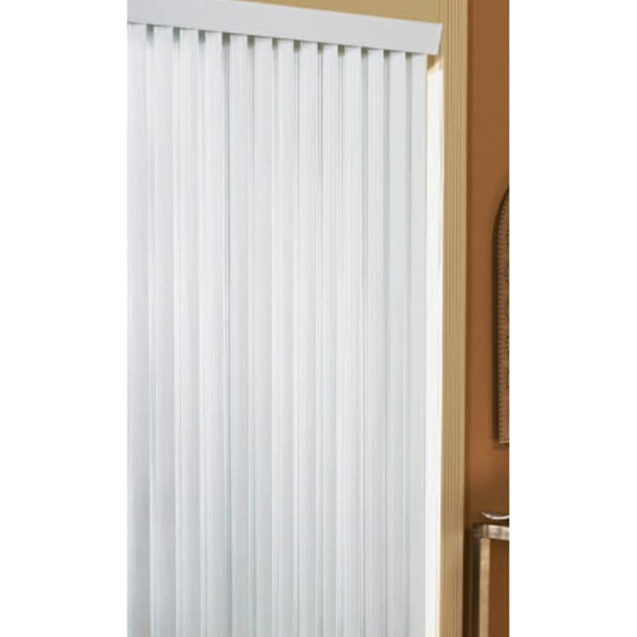 Project Source 3.5-in Cordless White Vinyl Light Filtering Vertical Blinds (Common 78-in; Actual: 78-in x 84-in)