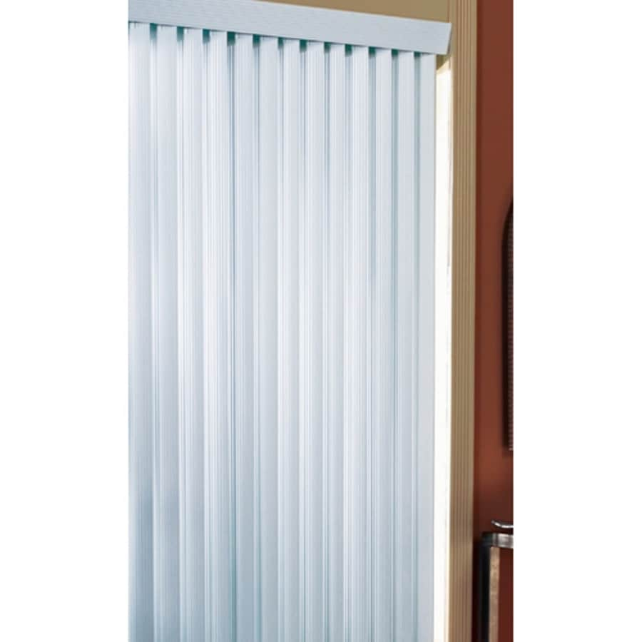 Project Source 3.5-in Cordless White Vinyl Room Darkening Vertical Blinds (Common 78-in; Actual: 78-in x 84-in)