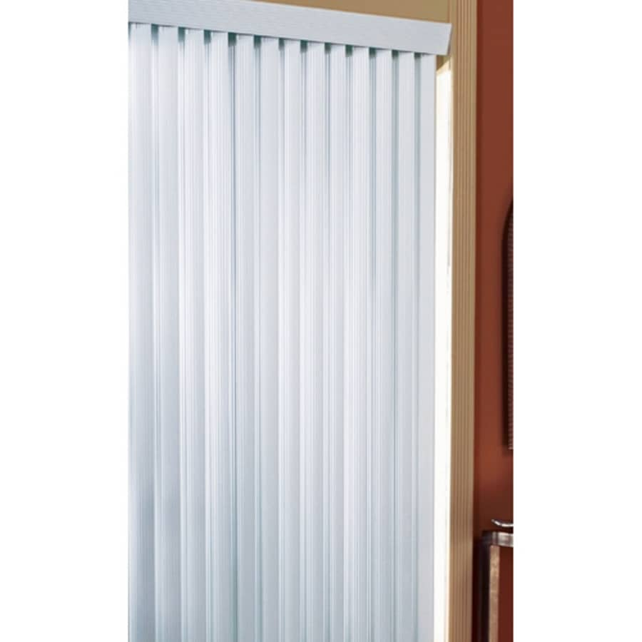 Project Source 3.5-in Cordless White Vinyl Room Darkening Vertical Blinds (Common 104-in; Actual: 104-in x 84-in)