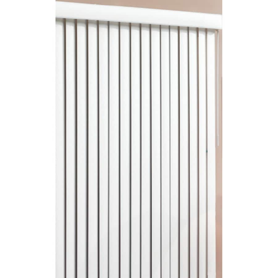 Style Selections 3.5-in Cordless White Vinyl Room Darkening Vertical Blinds (Common 78-in; Actual: 78-in x 84-in)