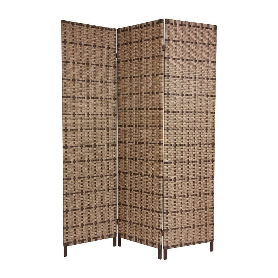 Shop oriental furniture w x 71 in h brown vinyl for Tall outdoor privacy screen panels