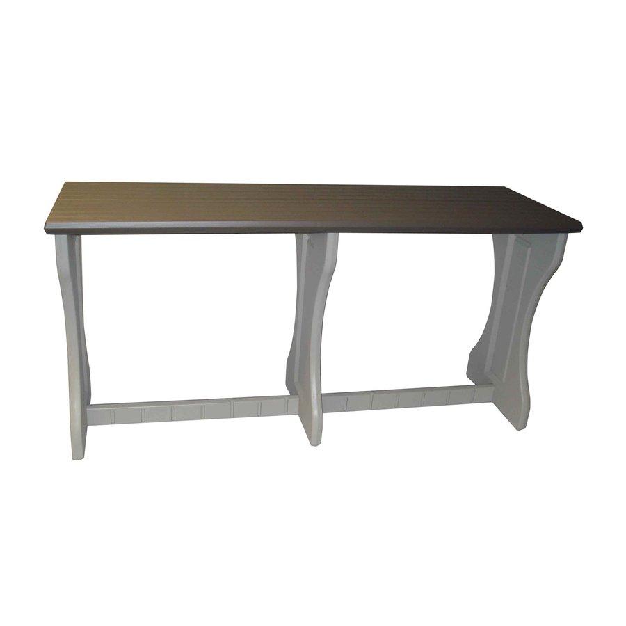 Confer Plastics Patio Essentials 24-in W x 74-in L Rectangle Plastic Bar Table