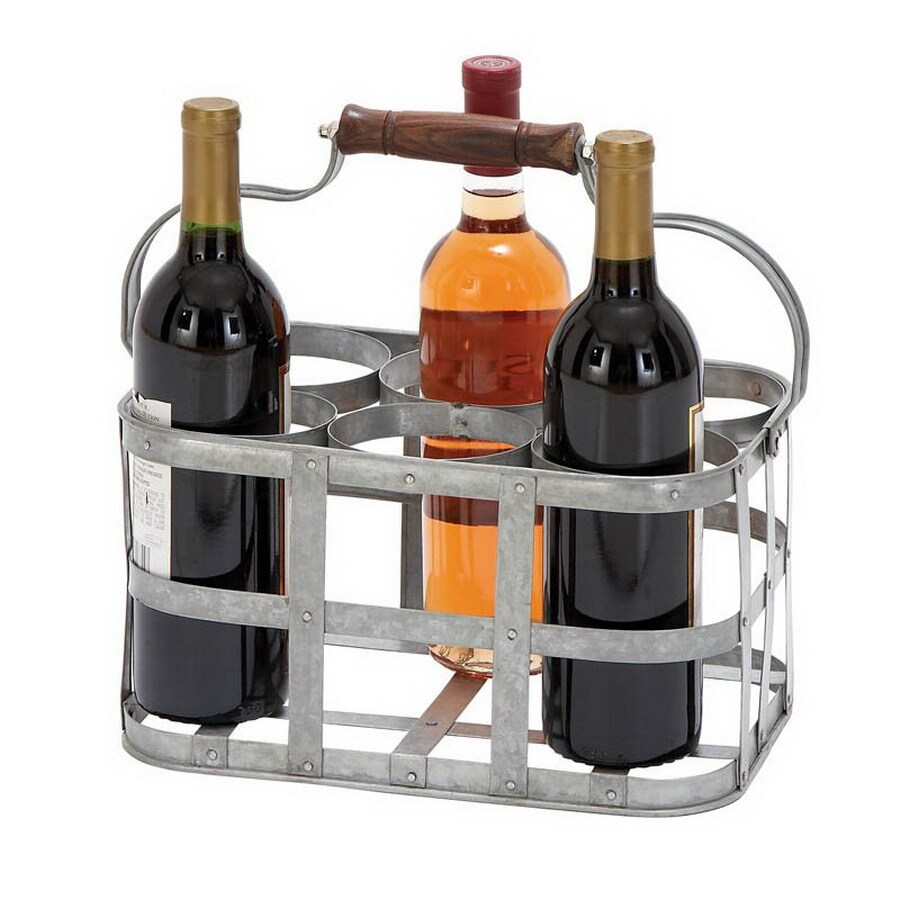 Woodland Imports Vino 6-Bottle Tabletop Wine Rack