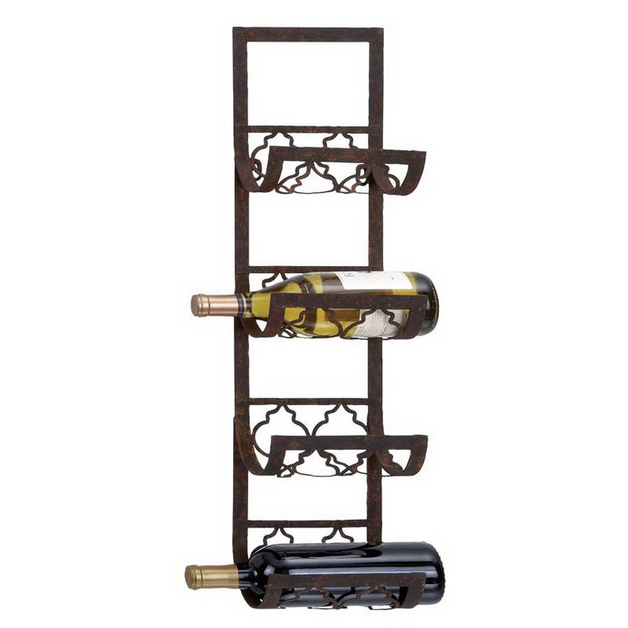 Woodland Imports 4-Bottle Wall-Mount Wine Rack