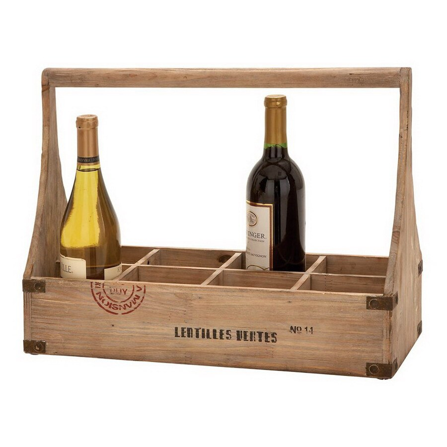 Woodland Imports Unique Home Accents 8-Bottle Tabletop Wine Rack