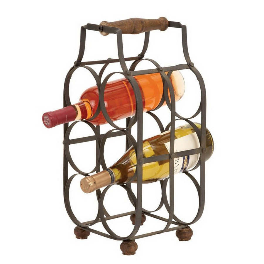 Shop Woodland Imports 6 Bottle Tabletop Wine Rack At Lowes Com