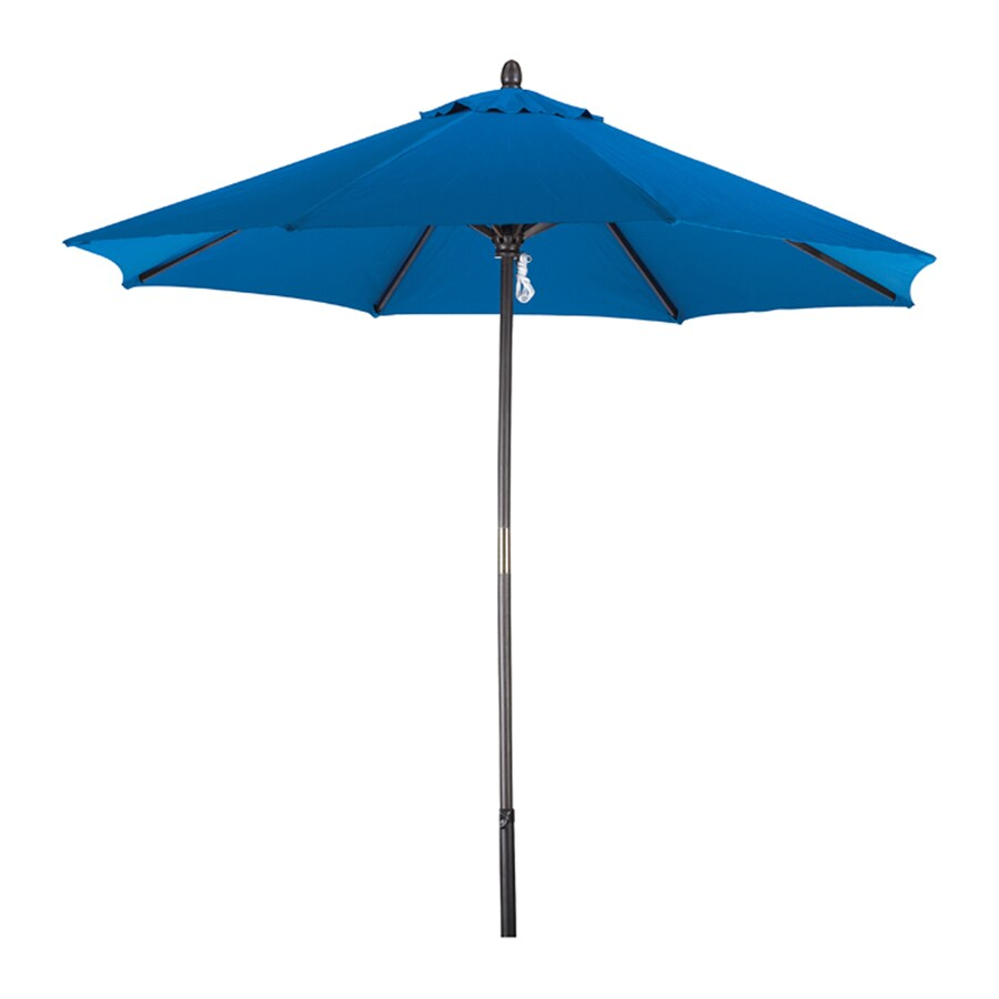Phat Tommy Marina Blue Market Patio Umbrella (Common: 9-ft W x 9-ft L; Actual: 9-ft W x 9-ft L)