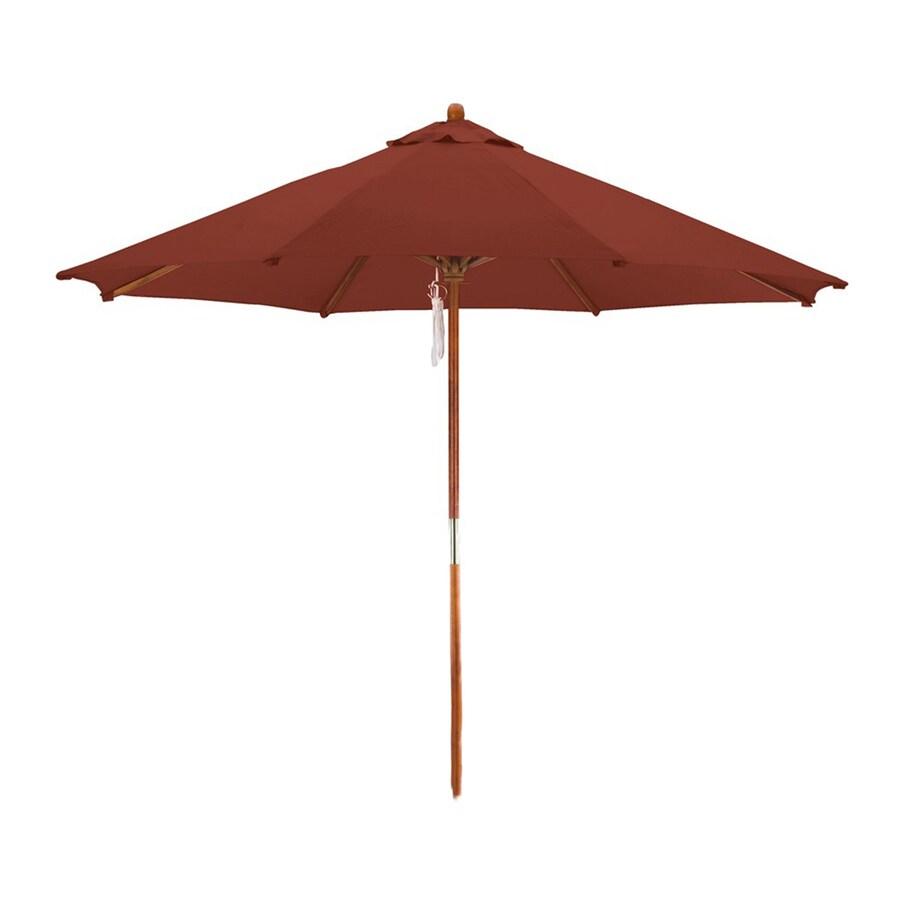 Phat Tommy Brick Market Patio Umbrella (Common: 9-ft W x 9-ft L; Actual: 9-ft W x 9-ft L)