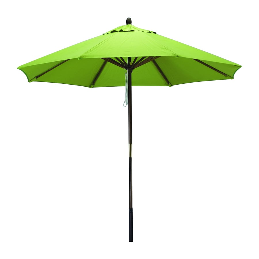 Phat Tommy Kiwi Market Patio Umbrella (Common: 9-ft W x 9-ft L; Actual: 9-ft W x 9-ft L)