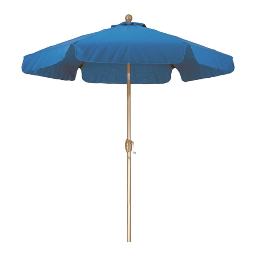 Phat Tommy Marina Blue Garden Patio Umbrella (Common: 7.5-ft W x 7.5-ft L; Actual: 7.67-ft W x 7.67-ft L)