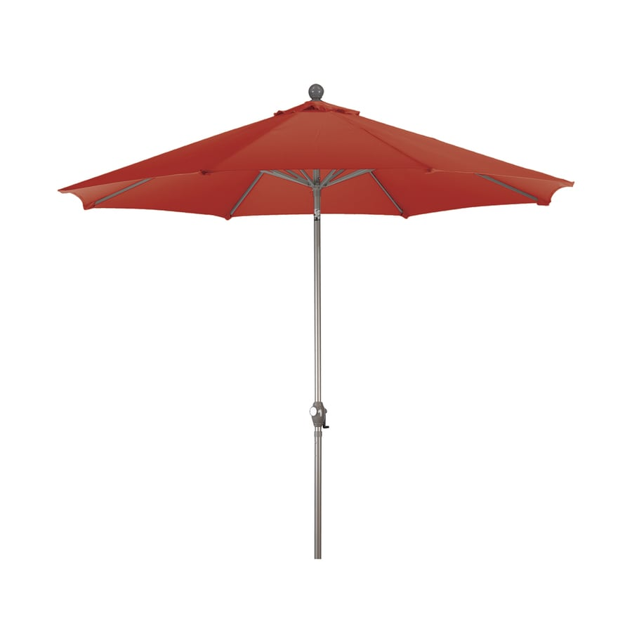 Phat Tommy Red Market Patio Umbrella (Common: 9-ft W x 9-ft L; Actual: 9-ft W x 9-ft L)