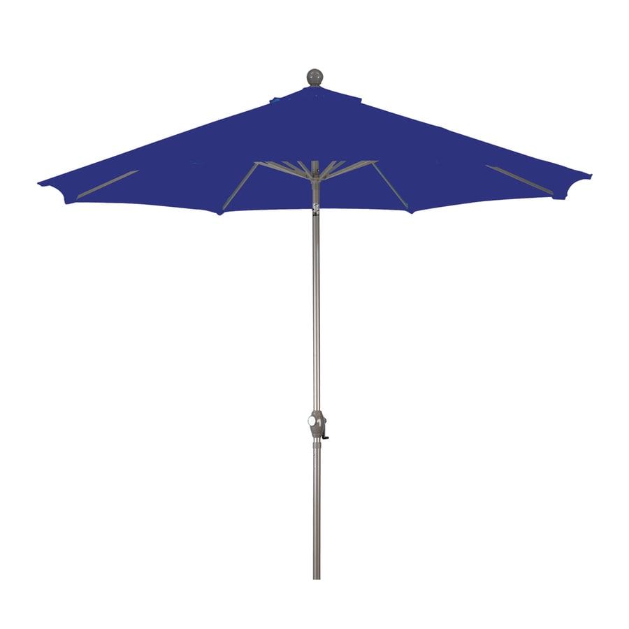 Phat Tommy Royal Blue Market Patio Umbrella (Common: 9-ft W x 9-ft L; Actual: 9-ft W x 9-ft L)