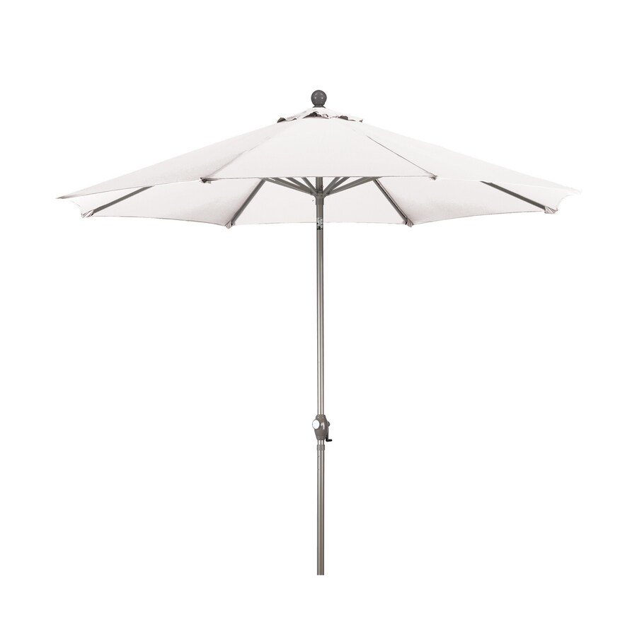phat tommy natural white market patio umbrella common 9 ft w x 9 ft