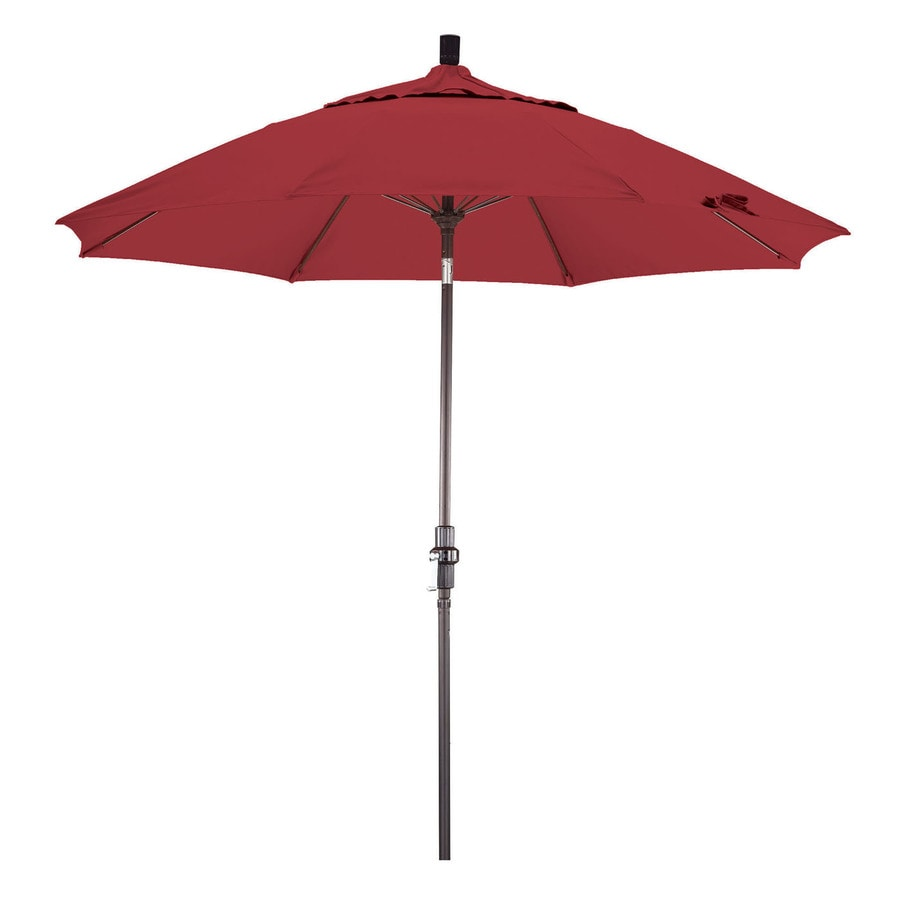 Phat Tommy Outdoor Oasis Red Market Patio Umbrella (Common: 9-ft W x 9-ft L; Actual: 9-ft W x 9-ft L)