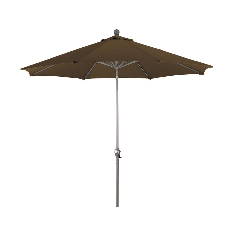 Phat Tommy Terracotta Market Patio Umbrella (Common: 9-ft W x 9-ft L; Actual: 9-ft W x 9-ft L)