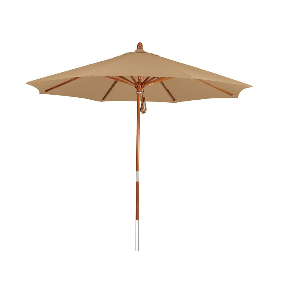 Phat Tommy Straw Market Patio Umbrella (Common: 9-ft W x 9-ft L; Actual: 9-ft W x 9-ft L)