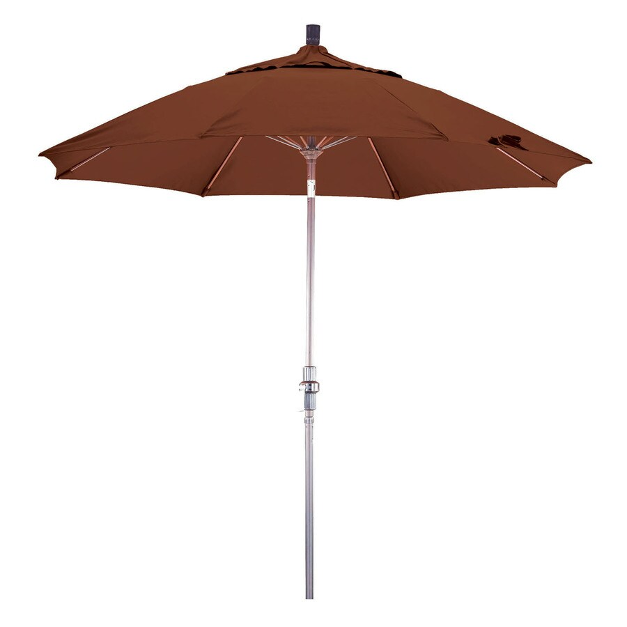 Phat Tommy Outdoor Oasis Mocha Market Patio Umbrella (Common: 9-ft W x 9-ft L; Actual: 9-ft W x 9-ft L)