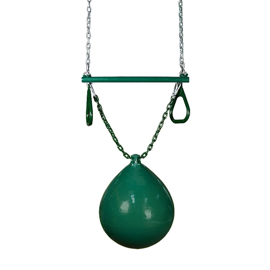 Gorilla Playsets Green Buoy Ball with Ring/Trapeze Combo