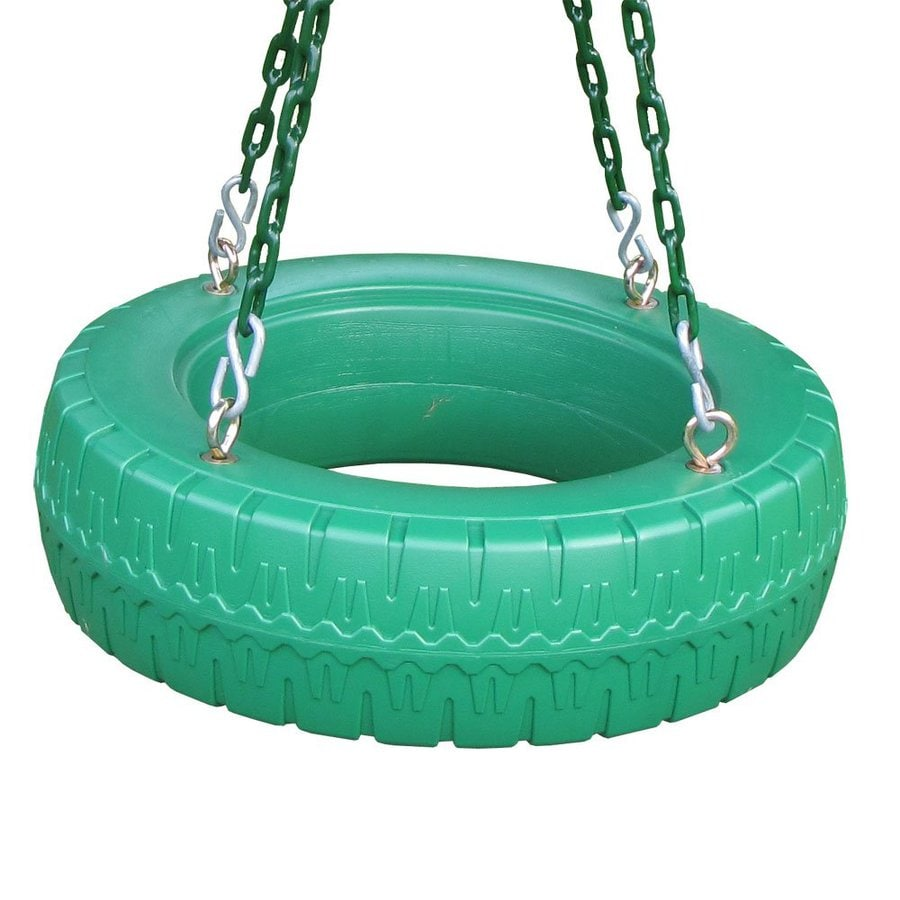Creative Playthings Single Axis Green Tire Swing