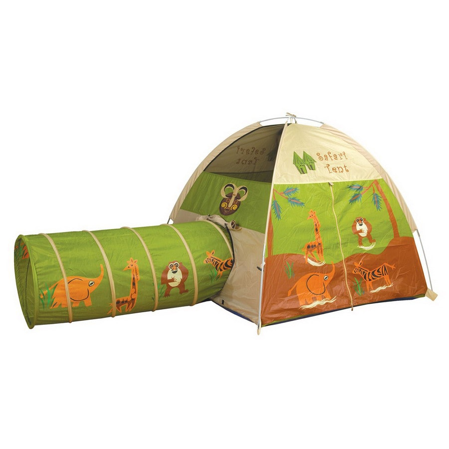 Pacific Play Tents Jungle Safari Tent and Tunnel Combination Metal Playhouse Kit