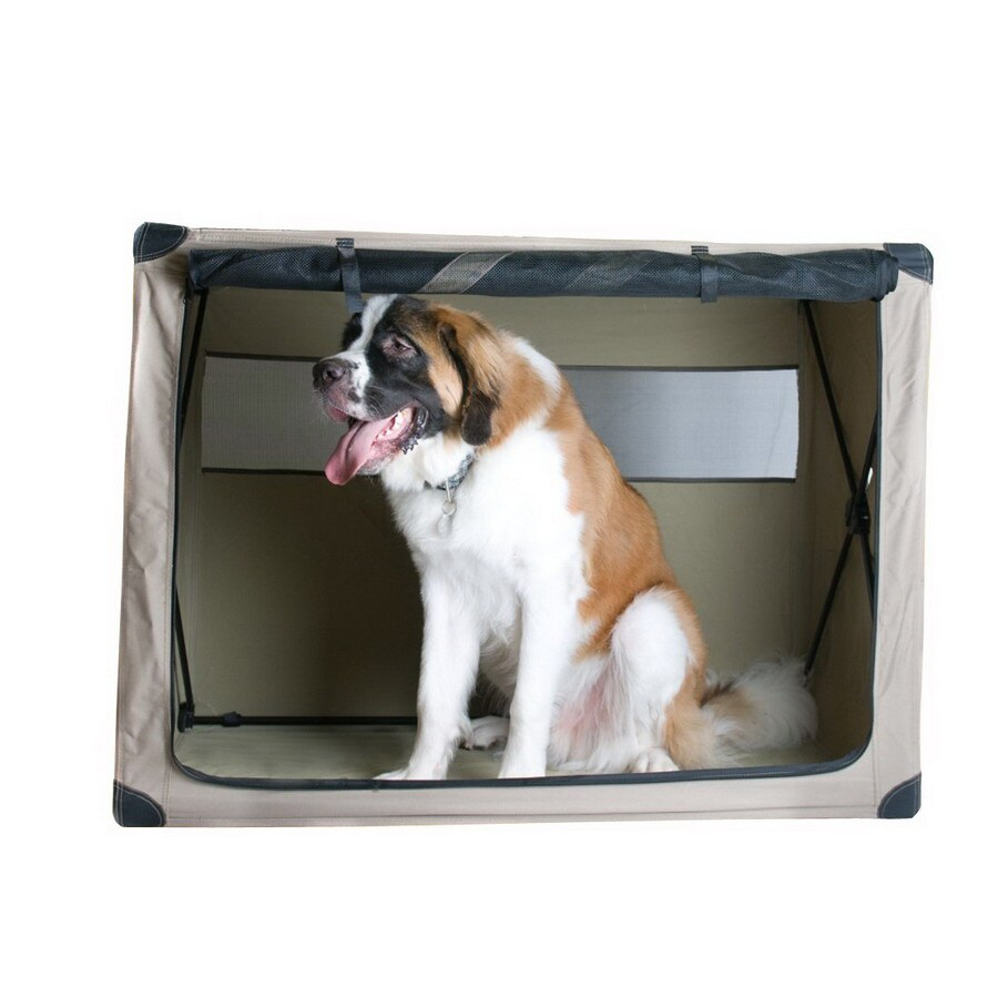 ABO Gear 4-ft x 2.41-ft x 3-ft Collapsible Plastic Pet Crate