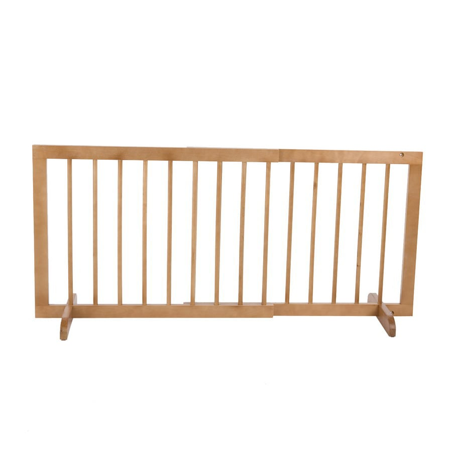 Cardinal Gates 29-in W Freestanding Wood Expandable Pet Gate