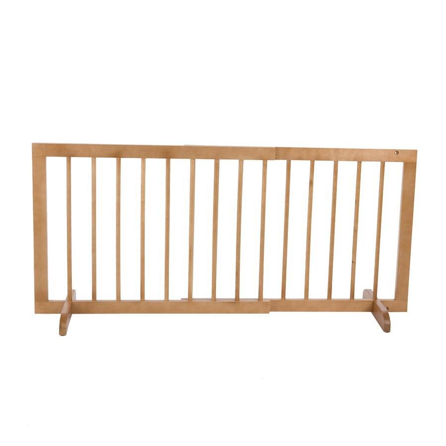 Cardinal Gates 29-in W Freestanding Wood Expandable Pet Gate