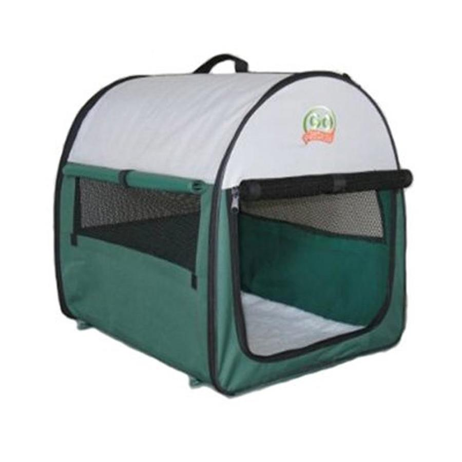 Go Pet Club 2.66-ft x 1.83-ft x 2.16-ft Green Collapsible Plastic Pet Crate