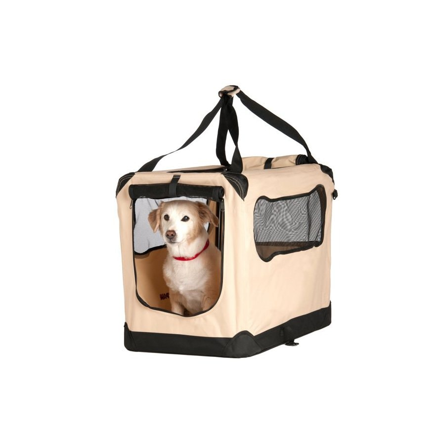 Great Paw 2.66-ft x 1.83-ft x 2-ft Beige Collapsible Pet Crate