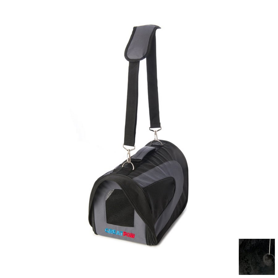 Great Paw 1.5-ft x 0.83-ft x 0.83-ft Black Collapsible Pet Carrier