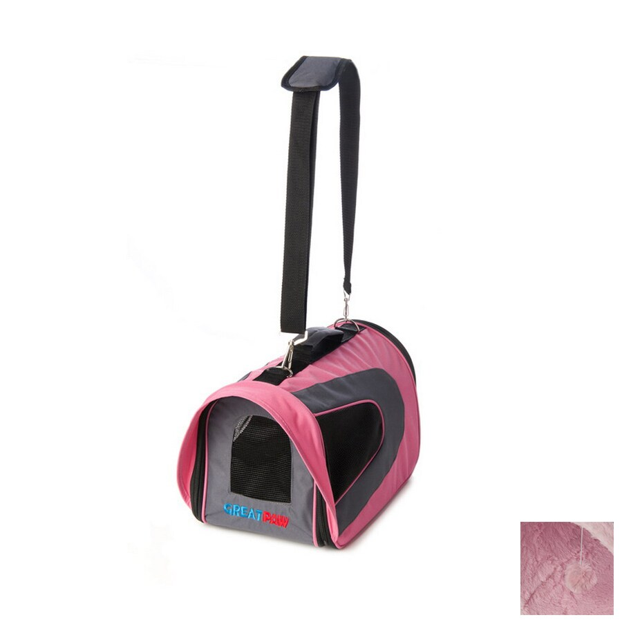 Great Paw 1.5-ft x 0.83-ft x 0.83-ft Pink Collapsible Pet Carrier