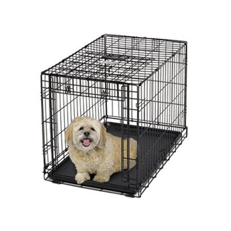 midwest pets 2.5-ft x 1.8-ft x 2-ft Collapsible Plastic and Wire Pet Crate
