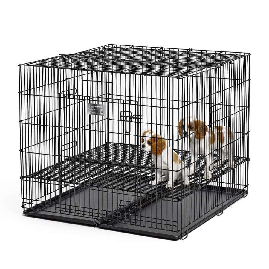 midwest pets 3-ft x 3-ft x 2.5-ft Double-Nickel Chrome Collapsible Plastic and Wire Pet Crate