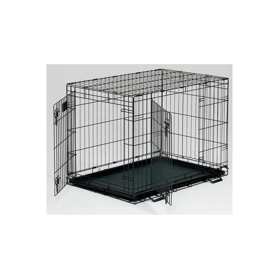midwest pets 1.83-ft x 1.08-ft x 1.33-ft Black Collapsible Plastic and Wire Pet Crate