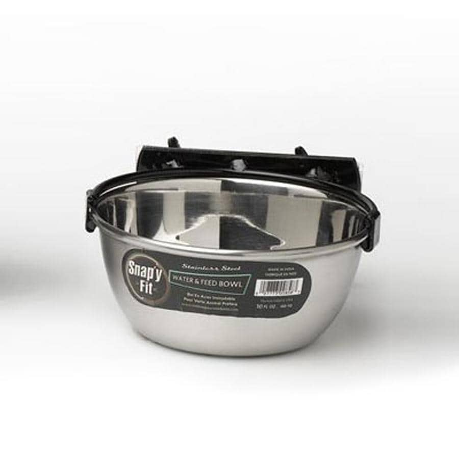 midwest pets Brushed Stainless Steel Pet Bowl