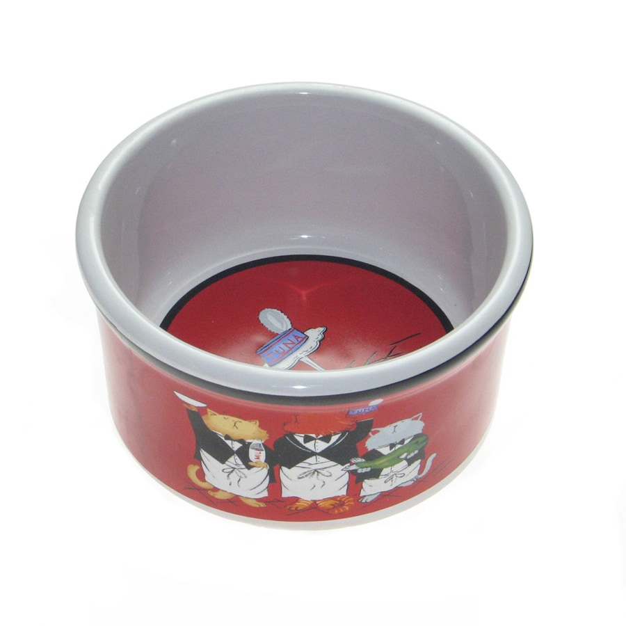 Snoozer Ceramic Cat Bowl