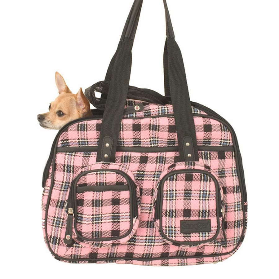 Snoozer 1.25-ft x 0.6-ft x 1-ft Pink Plaid Pet Carrier