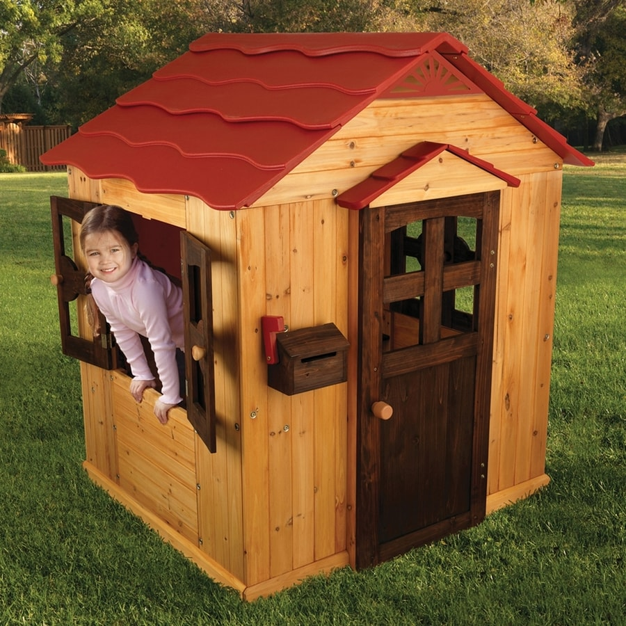 Outdoor Kitchen Kits Lowes: Shop KidKraft Playhouse Wood Playhouse Kit At Lowes.com