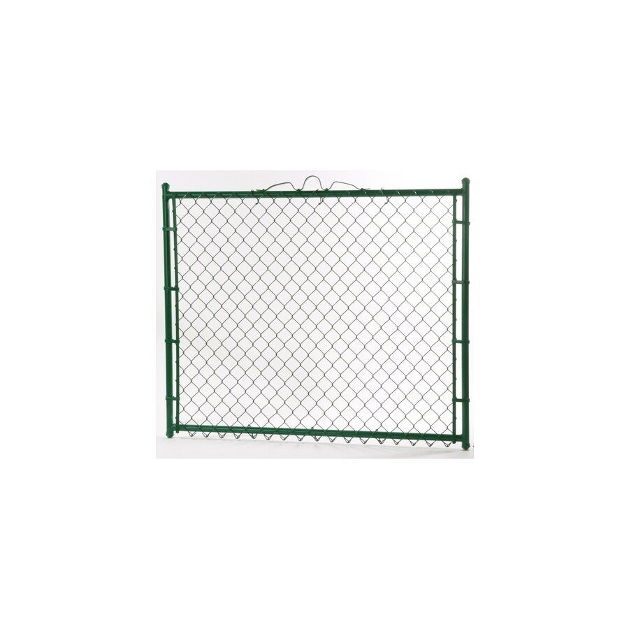 Vinyl Coated Steel Chain-Link Fence Walk-Thru Gate (Common: 4-ft x 6-ft; Actual: 3.66-ft x 6-ft)