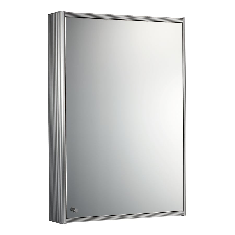 Whitehaus Collection 15.75-in x 23.63-in Rectangle Surface Mirrored Aluminum Medicine Cabinet