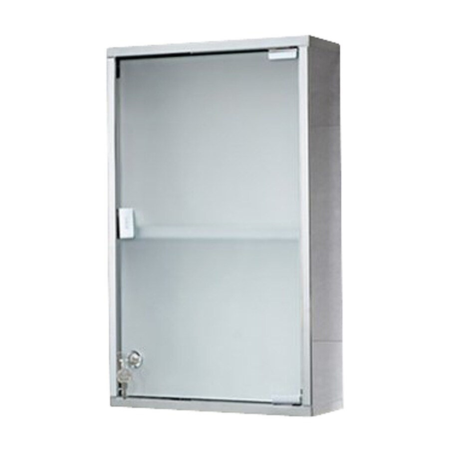 Nameeks Joker 11.8-in x 19.7-in Rectangle Surface Stainless Steel Medicine Cabinet