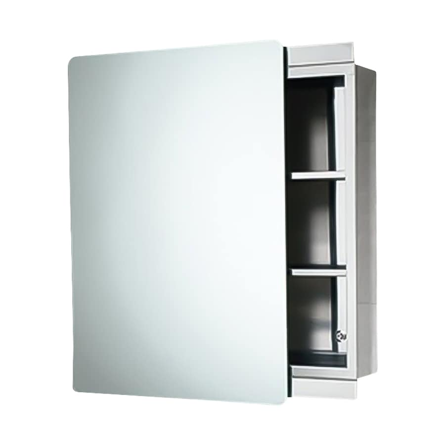 Nameeks Kora 18.11-in x 25.98-in Rectangle Surface Mirrored Stainless Steel Medicine Cabinet